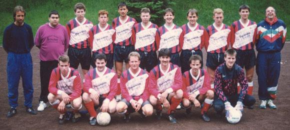 Aufstieg 1993/94 von der B- in die A-Klasse (Foto im Besitz von Gerd Harzem)