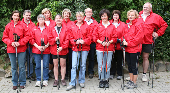 Die Nordic Walking-Truppe am 14.05.2007