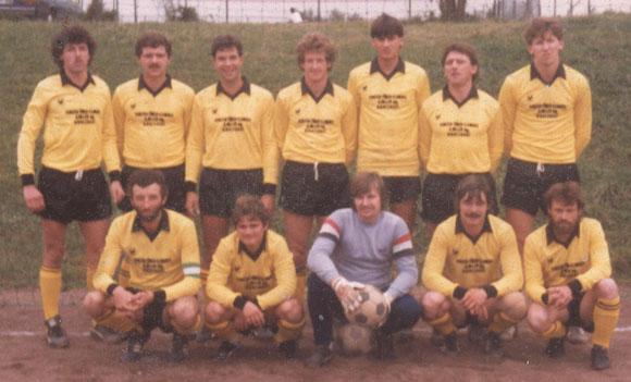 Mannschaftsfoto um 1985 (Foto im Besitz von Gerd Harzem)